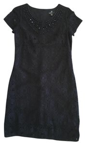 Ronni Nicole Lace Cocktail Beaded Comfortable Dress