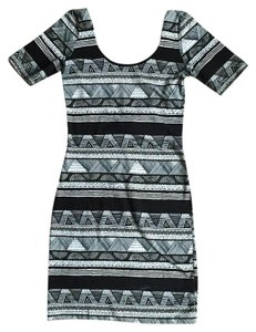 American Apparel short dress black Geometric Aztec Mini on Tradesy