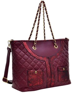 Classic Large Tote in Wine