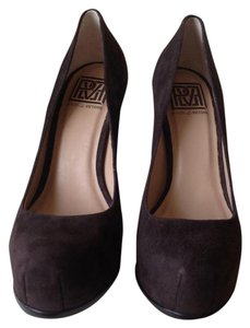 Pour La Victoire Suede Leather Chocolate Brown Pumps