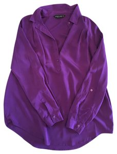 Dorothy Perkins Silk Button Down Top Purple