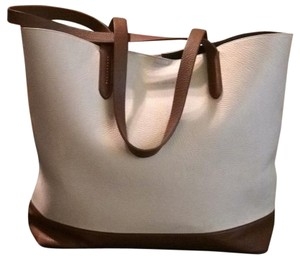 Cole Haan Tote in Ivory and brown