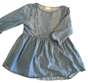 Coincidence & Chance Denim Babydoll Everyday Top Chambray