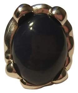 Lia Sophia Silver Ring with Navy Blue and slight swirl