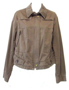 Banana Republic 100% Cotton Bomber Light Brown Jacket