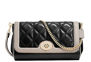 Coach Ruby Quilted Calf Leather Cross Body Bag