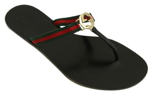 Gucci 388427 Womens Gg Thong Multi-Color Sandals
