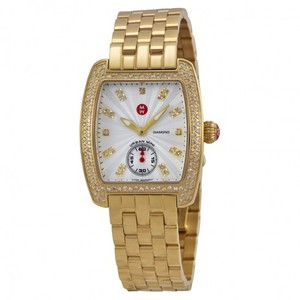 Michele $2700 NWT GOLD MINI URBAN DIAMOND, DIAMOND DIAL WATCH MWW02A000564