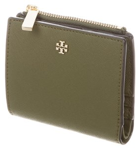 Tory Burch Olive green Staffing leather Tory Burch Robinson Mini wallet