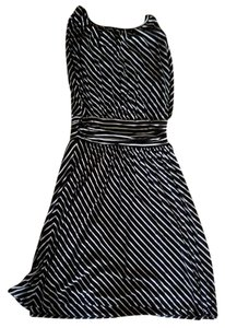 Express Striped Sleeveless A-line Rayon Comfortable Dress