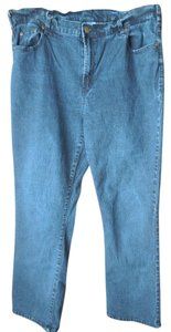 DG2 by Diane Gilman Plus-size Logo Button Boot Cut Jeans-Dark Rinse