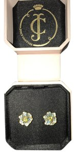 Juicy Couture Juicy Couture Crystal Pave Flower Stud Earrings