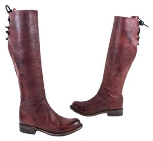 Bed|Stü Manchester Tall Womens Scarlet Rustic Red Boots