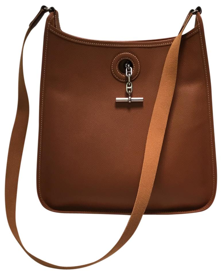 2f23ec31cb41 Hermès Vespa Tan Pm Messenger Handbag Brown Leather Shoulder Bag ...