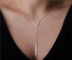 Other Gold Lariat Necklace