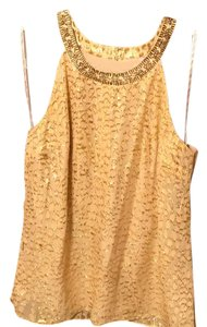 Lilly Pulitzer Top Gold