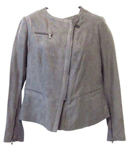 DKNY Faux Suede Motorcycle Jacket