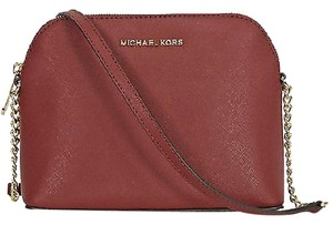MICHAEL Michael Kors Brick Saffiano Satchel in Red