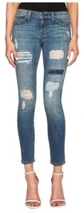 NWT $288 Current Elliott Stiletto Destroyed Skinny Jeans 27 Skinny Jeans-Distressed