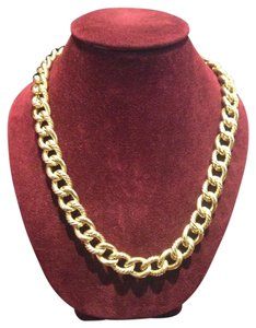 David Yurman 18kt yellow gold cable necklace
