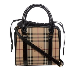 Burberry Crossbody Tote in Black and Tan