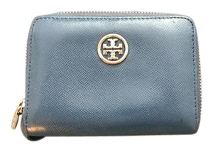 Tory Burch Navy leather Tory Burch zip around wallet.