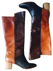 Anthropologie Brown/ Black Boots