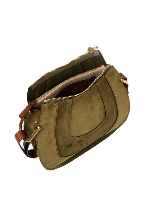 Item - Shoulder Hayley With Gold Chain Eucalyptus Suede Hobo Bag