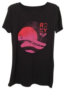 Roxy T Shirt Black and Pink