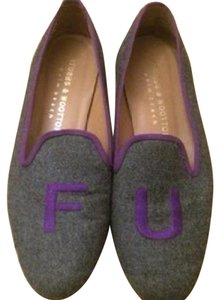 Stubbs & Wootton Grey and Purple Flats