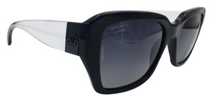 Chanel Black and Clear Polarized Square Chanel Sunglasses 5263 c.501/S8 54