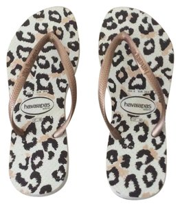Havaianas Ivory/Brown Sandals