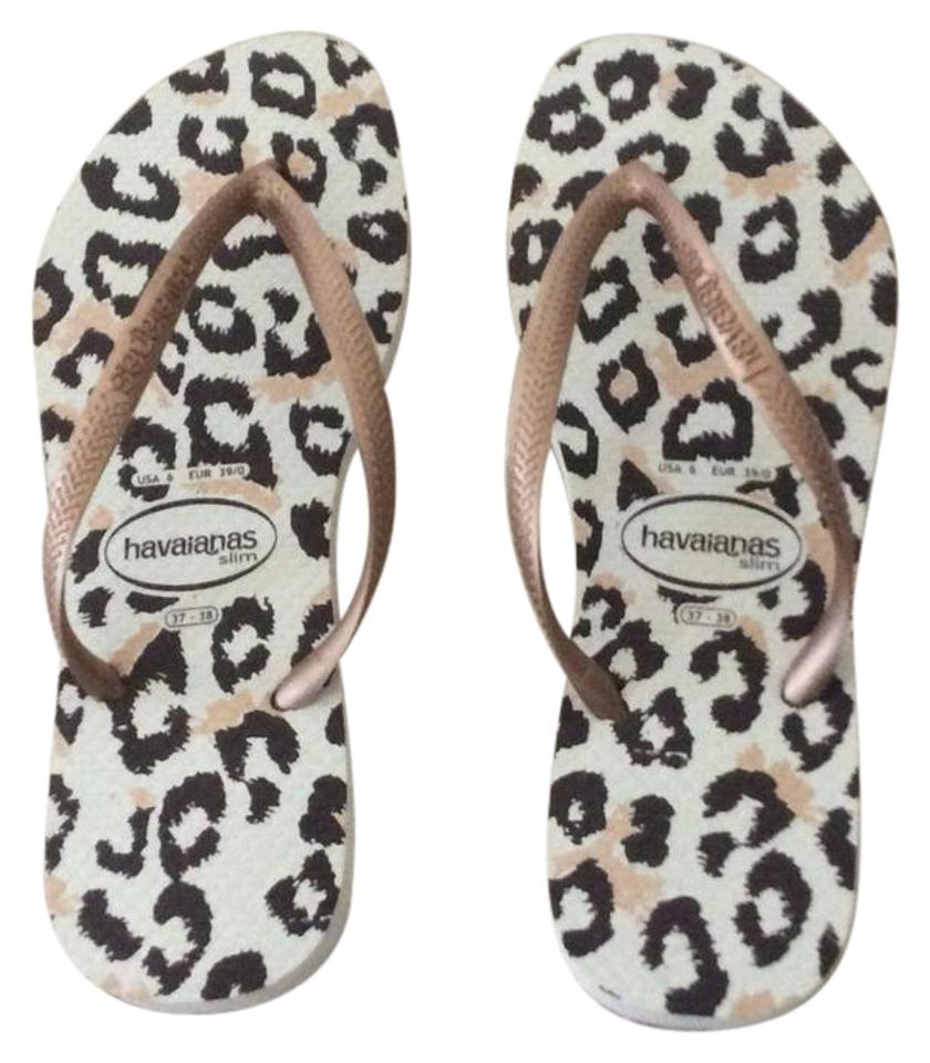 24651852afb41 Havaianas Ivory Brown Slim Fit Sandals Size US 7 Regular (M