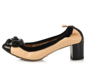 Chanel Two-tone Ch.k1026.07 Ballet Ballerina Cap Toe Pumps