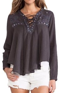 ETERNAL SUNSHINE CREATIONS Shanti Wildheart Esc Top Dark Gray Mix