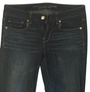 American Eagle Outfitters Dark Denim Skinny Stretch Skinny Jeans-Dark Rinse