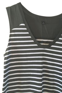 Banana Republic short dress Olive/White Striped T-shirt Comfortable Simple on Tradesy