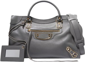Balenciaga Classic Metallic Edge City Tote in Gray