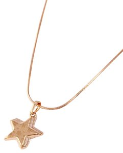losangelesbeads 18KT My Sun and Stars Necklace Gold Filled Star Pendant