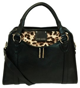 Marc Jacobs Serengeti Wellington Leopard Embellished Satchel in Black