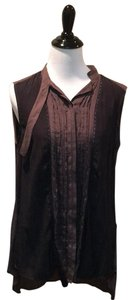 AllSaints Button Down Shirt black and brown