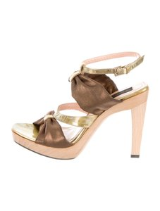 Derek Lam gold-tone and copper-tone Sandals