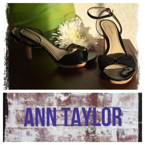 Ann Taylor Black/ Tan Pumps