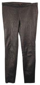 Coach Grained Leather Silver Black Leggings