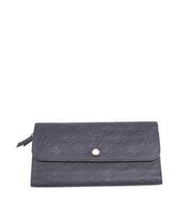 Louis Vuitton Louis Vuitton Virtuose Blue Empreinte Leather Snap Wallet (110615)