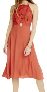 paprika Maxi Dress by ASTR Cutout Midi Rust Fitflare Long