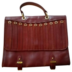 Badgley Mischka Satchel in Burgundy
