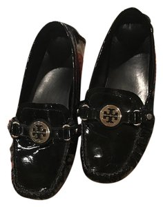 Tory Burch Leather Black Patent Flats