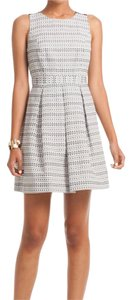 Trina Turk Lined Fit Flare Textured Dress