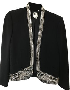 Haute Hippie Beaded Sequins Black Blazer